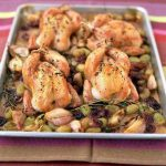 Roasted Chicken, grape and garlic thyme